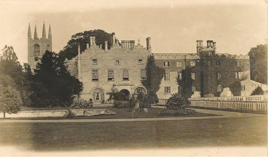 Conington Castle Conington. (Note Conington Church Tower to the left)