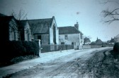Weslyan Chapel Sawtry showing the house where the Minister's lived the white one after the Chapel.