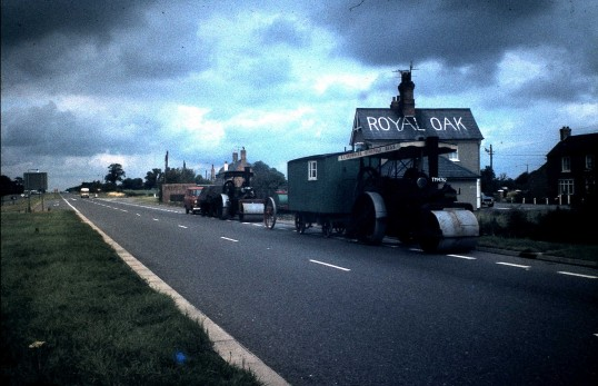 Royal Oak Public House Sawtry the road workers move in.