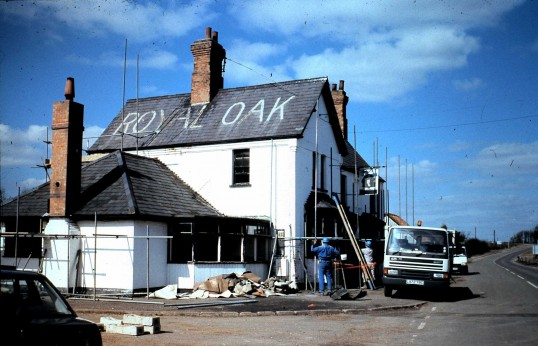 Royal Oak Public House Sawtry. (Demolition begins)