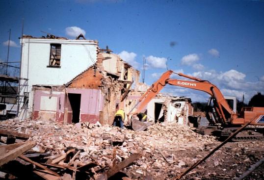 Royal Oak Public House Sawtry. (Demolition halfway there)