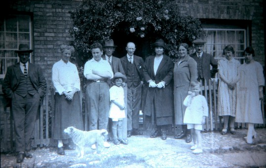 Percy Slater and Family in Sawtry.(Percy was a well known Professional Photographer of the time.)