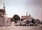 The Cross Keys Public House Sawtry. This Pub stood where Greenways Shops are today.