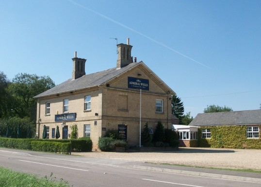 The Admiral Wells public house Holme. (Near the level crossing)