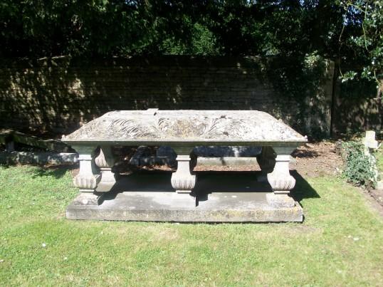 St. Giles Churchyard Holme. (an unusual gravestone with no insciption)