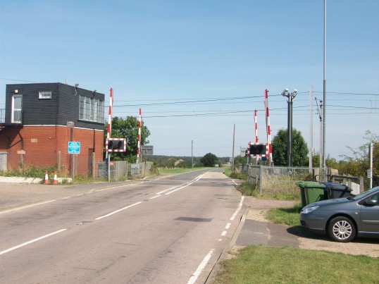 The Level Crossing Station Road Holme. (The station was closed early 1960s)