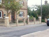 The finish of the new wall outside Old School Hall Sawtry.(Parish Office)