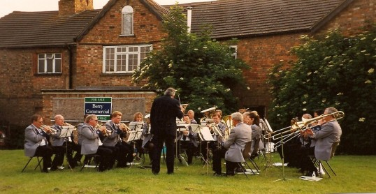 Remembrance Day Band playing on the Green, Sawtry.