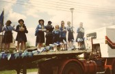 Girl Guides, Silver Jubilee Parade Float, Sawtry.