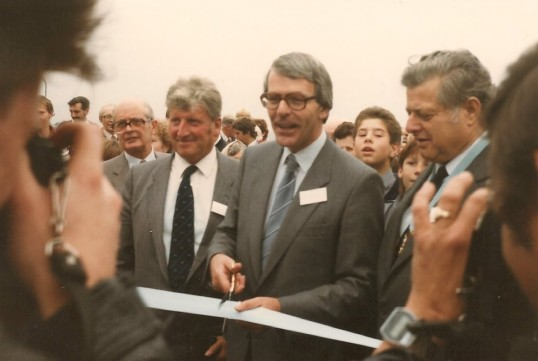 Opening of the Sawtry Flyover part of the A1 Motorway scheme.( Opened by John Major.)