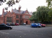 Holmewood Hall in the village of Holme.(Front view.)