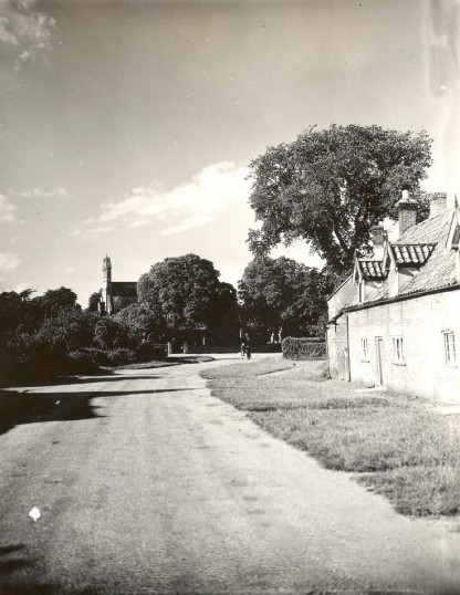 Holme Village Church Street. (Looking towards St. Giles Church cottages on right still there 2009)