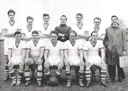 Sawtry Football Club,winners Hunts Div. 2 1957/1958.