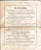 A soldiers worth, general war time notice seen in Sawtry no doubt.