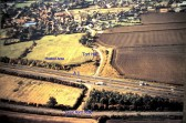 Aerial view of Tort Hill Sawtry. Another view of the Moated Area behind the Church.