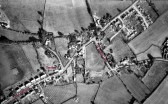 Aerial view of Sawtry Village. (Note the Bell Inn in the centre)