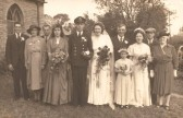 The wedding of Peggy Wright & George Fielding in Sawtry.