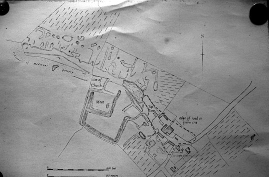 The lost village of Coppingford 1716.