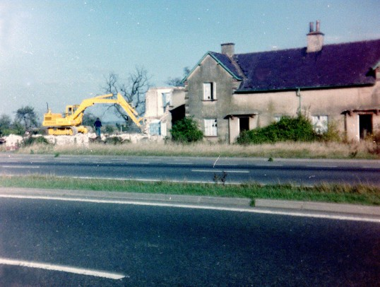 Demolition of council houses Toll Bar Sawtry. Arthur Stevens the Blacksmith lived here 1924-1960.