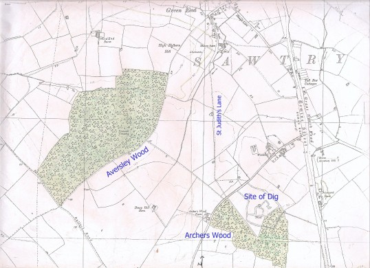 St. Judith's Archeological Dig Sawtry. (Map of the area)