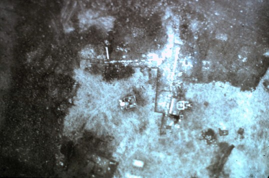 St. Judith's Archeological Dig Sawtry.(Overhead view of site.)