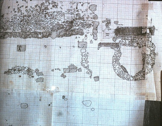 St. Judith's Archeological Dig Sawtry.(Drawing two)
