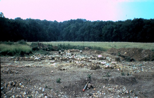 St. Judith's Archeological Dig Sawtry.(North end looking South)
