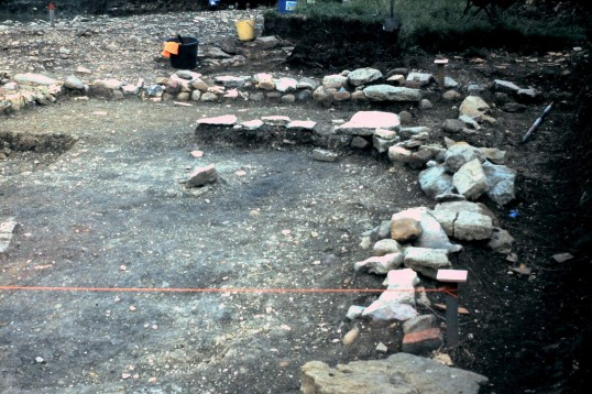 St. Judith's Archeological Dig Sawtry.(East end wall looking North.)