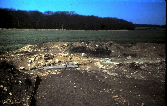 St. Judith's Archeological Dig Sawtry.(End of Oven looking West.)