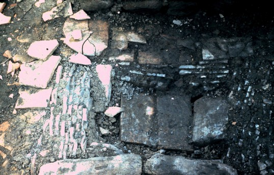 St. Judith's Archeological Dig Sawtry.(South end Fire Hearth Oven.)