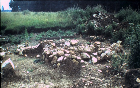 St. Judith's Archeological Dig Sawtry.(South back of Oven facing East.)