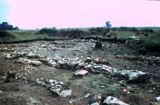 St. Judith's Archeological Dig Sawtry.(South end looking North East.)