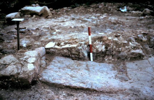 St. Judith's Archeological Dig Sawtry.(East side of Fire Hearth  Sept. 13 1980.)