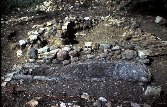 St. Judith's Archeological Dig Sawtry.(Oven and Fireplace.)