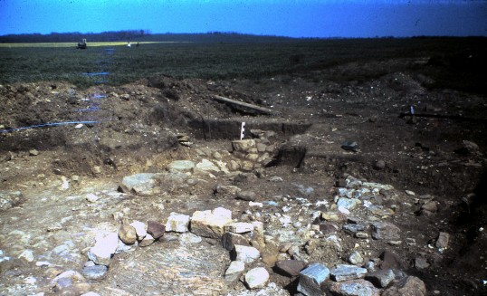 St. Judith's Archeological Dig Sawtry.(Fireplace looking North West.)
