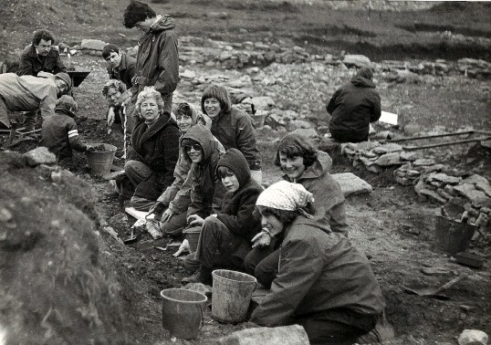 St. Judith's Archeological Dig Sawtry.(Volunteers at the Dig.)