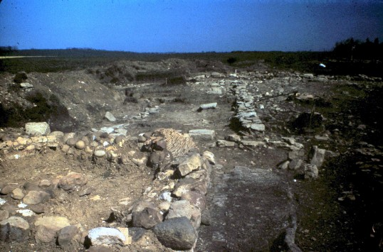 St. Judith's Archeological Dig Sawtry.(North to South wall West side.)