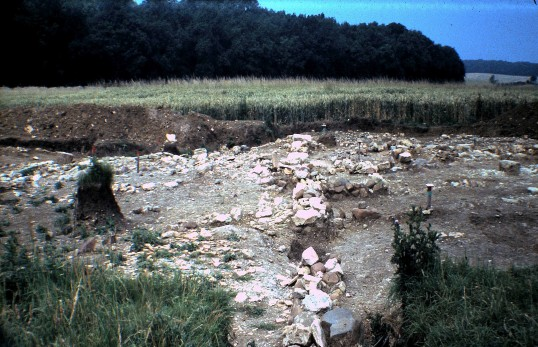 St. Judith's Archeological Dig Sawtry.(East to West wall looking West.)