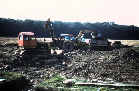 St. Judith's Archeological Dig Sawtry.(At the end of the Dig  26 Sept 1980)