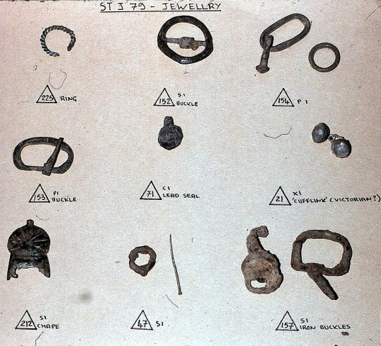 St. Judith's Archeological Dig Sawtry.(Jewellery found on site.)
