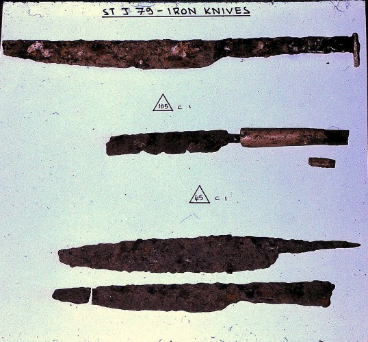 St. Judith's Archeological Dig Sawtry.(Iron Knives found on site.)