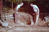 Discovering the Old Well whilst rebuilding the boundry wall of the Manor House, Tinkers Lane Sawtry.