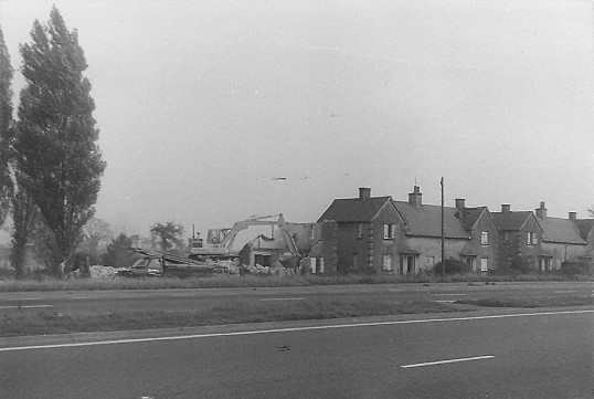 Demolition of council houses Toll Bar  Sawtry.