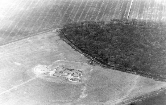 St. Judith's Archaeological Dig Sawtry. (An aerial view of the site.)