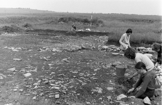 St. Judith's Archaeological Dig Sawtry.(Volunteers on the site)