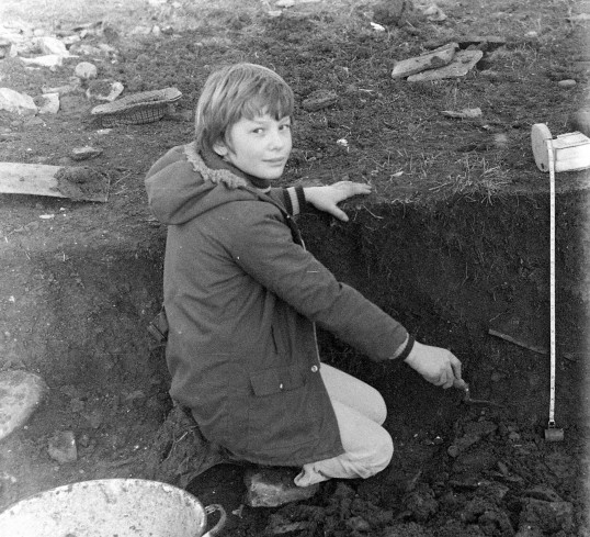 St. Judith's Archaeological Dig Sawtry.(Finding of the Chess piece by Andrew Dodson a local boy.)