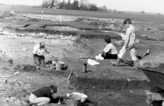 St. Judith's Archaeological Dig Sawtry.(Volunteers on the site.)