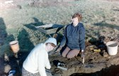 St. Judith's Archaeological Dig Sawtry.(Volunteers working on the site.)
