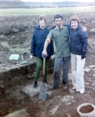 St. Judith's Archaeological Dig Sawtry.(Three volunteers.)