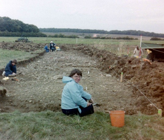 St. Judith's Archaeological Dig Sawtry.(A view looking towards Avesley Wood in the distance.)